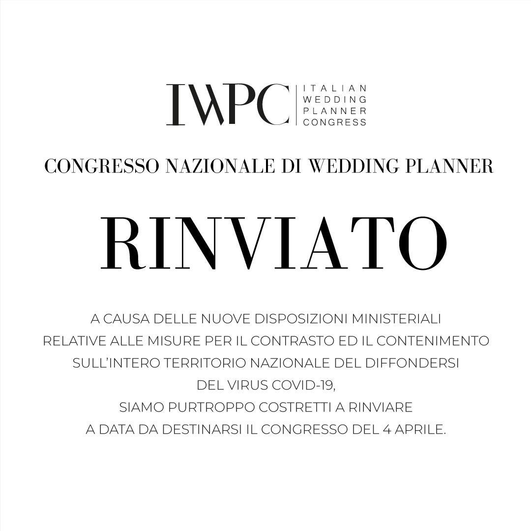 Italian wedding Planner Congress | Corona Virus